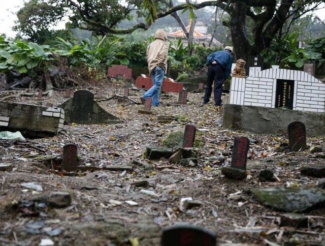 台北六张犁地区的白色恐怖受难者公墓