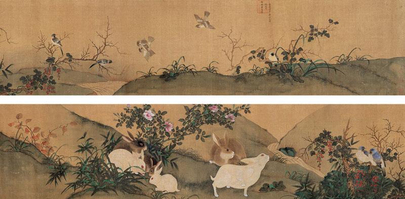 御临黄筌花鸟卷